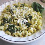 pasta-n-spinach salad