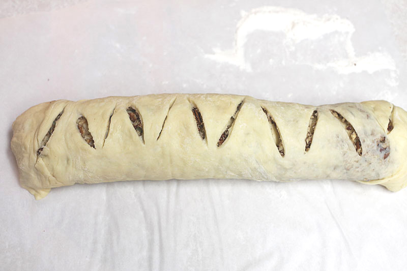 nut bread rolled up