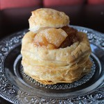 Apple Pie Filling in Puff Pastry Cups