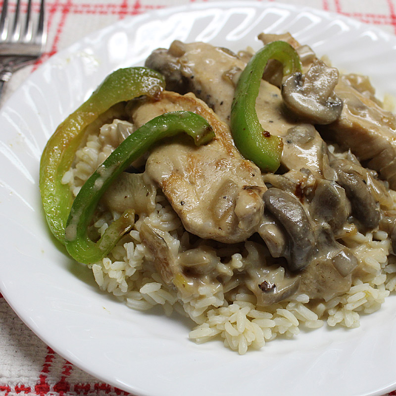 Lazy-Chicken-Stroganoff
