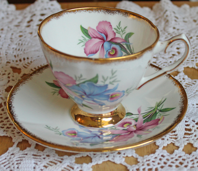 Clare Bone China Teacup and Saucer