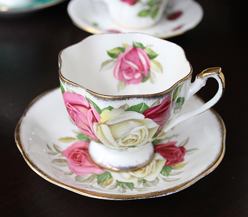 Lady Sylvia Bone China Teacup and Saucer