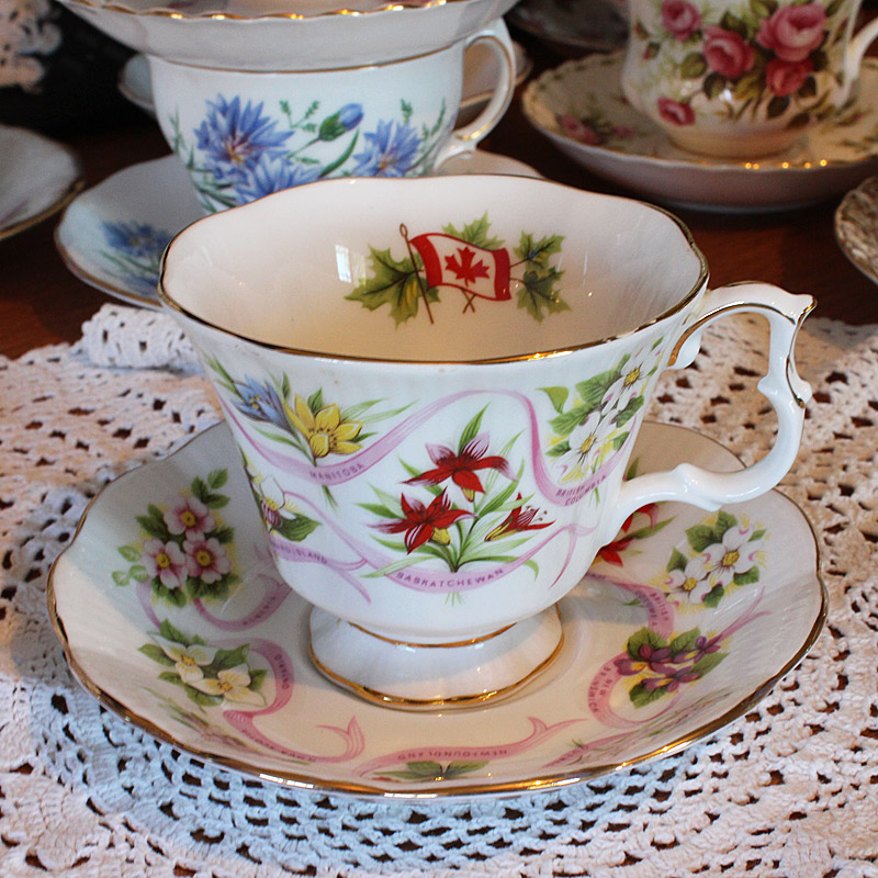 Royal Albert Canadian Flag  Teacup and Saucer