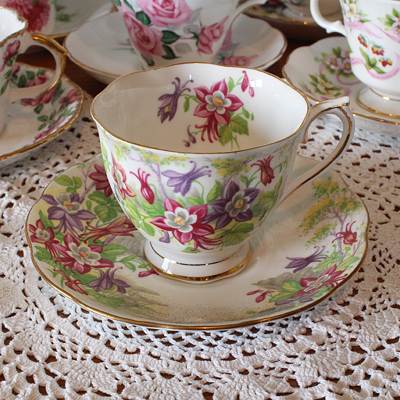 Royal Albert Columbine Tea Cup and Saucer