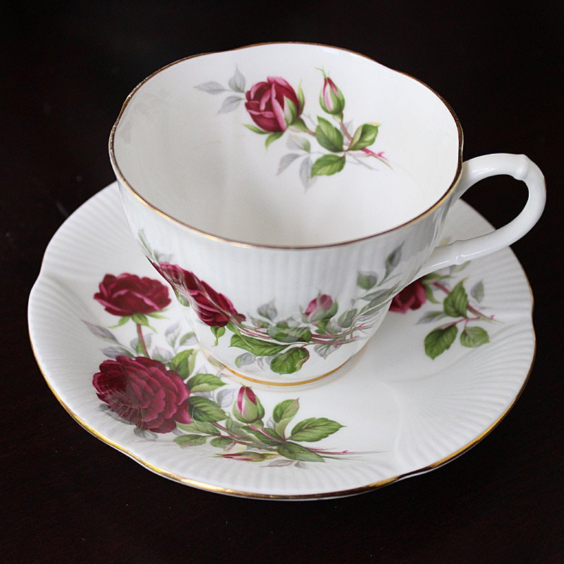 Royal Canadian Rose China Teacup and Saucer