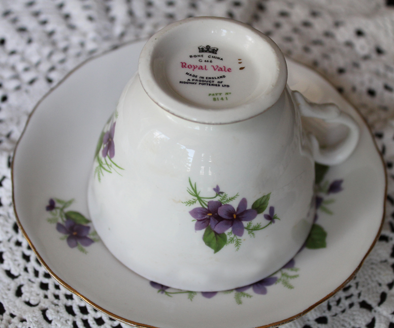 Royal Vale Bone China Cup and Saucer