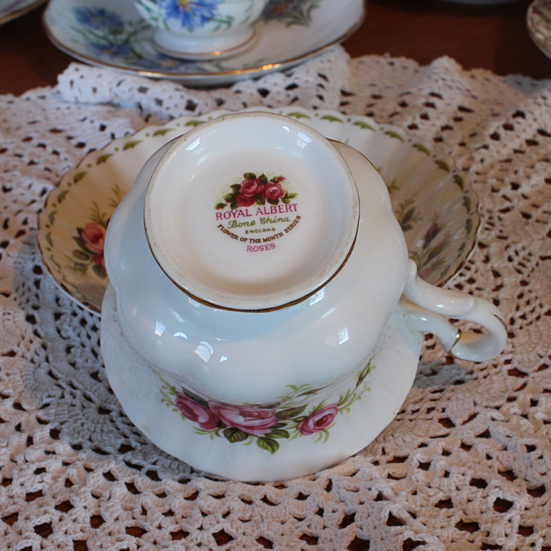 Royal Albert Bone China Teacup and Saucer June flower of the month