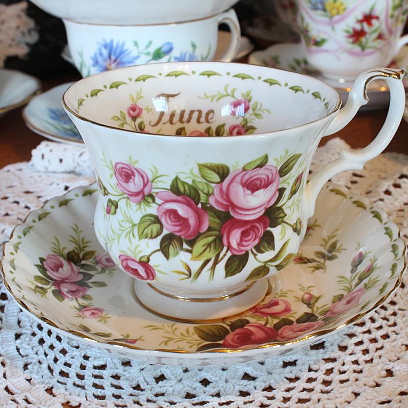 Royal Albert Bone China Teacup and Saucer June