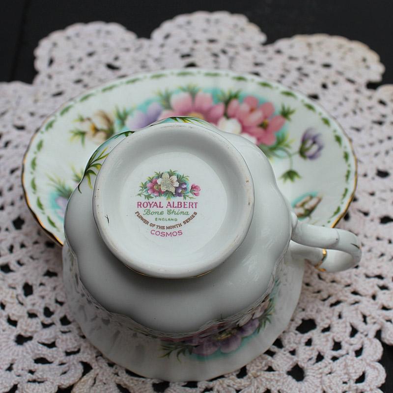 Royal Albert Teacup and Saucer-October