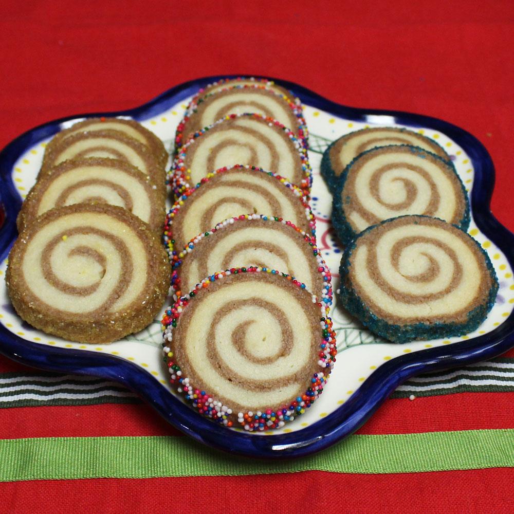 shortbread pinwheel cookies