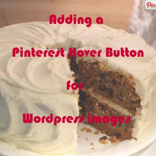 Adding a Pinterest hover button for WordPress images
