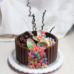 choc mousse cheesecake birthday cake