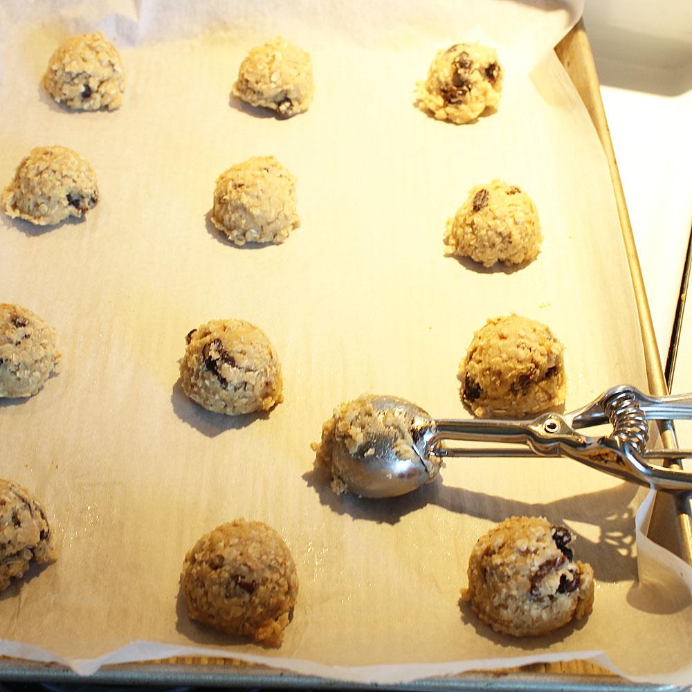 scooped Raisin Oatmeal Cookies