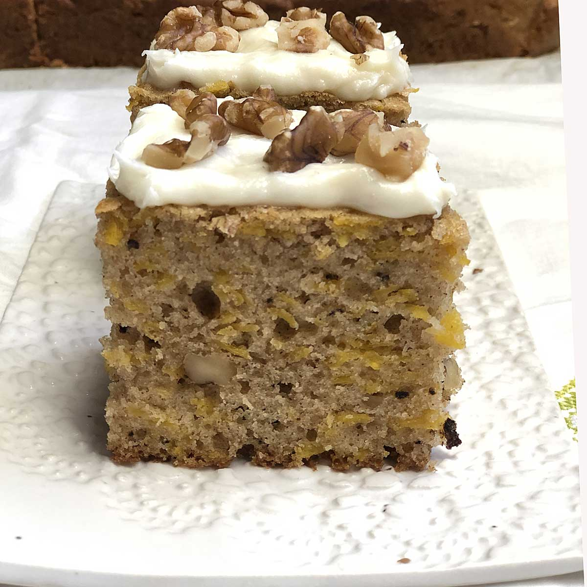 butternut squash cake made with oil instead of butter